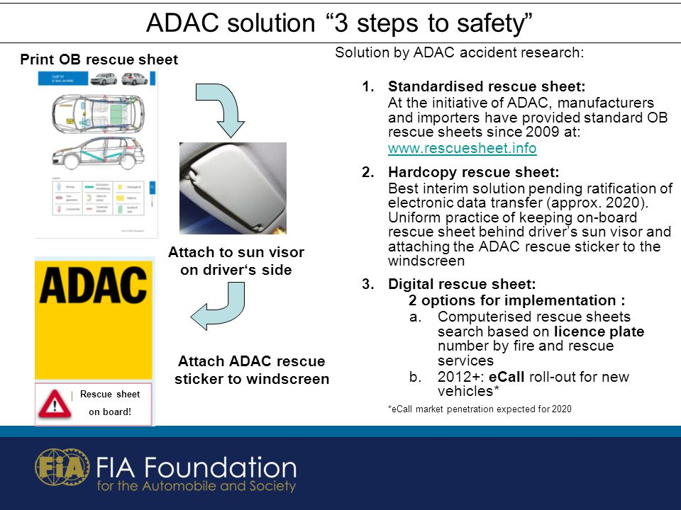 ADAC solution 3 steps to safety