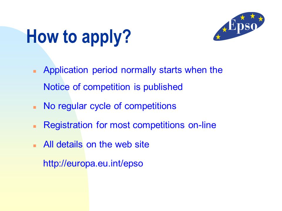 11/04/2017 How to apply Application period normally starts when the Notice of competition is published.