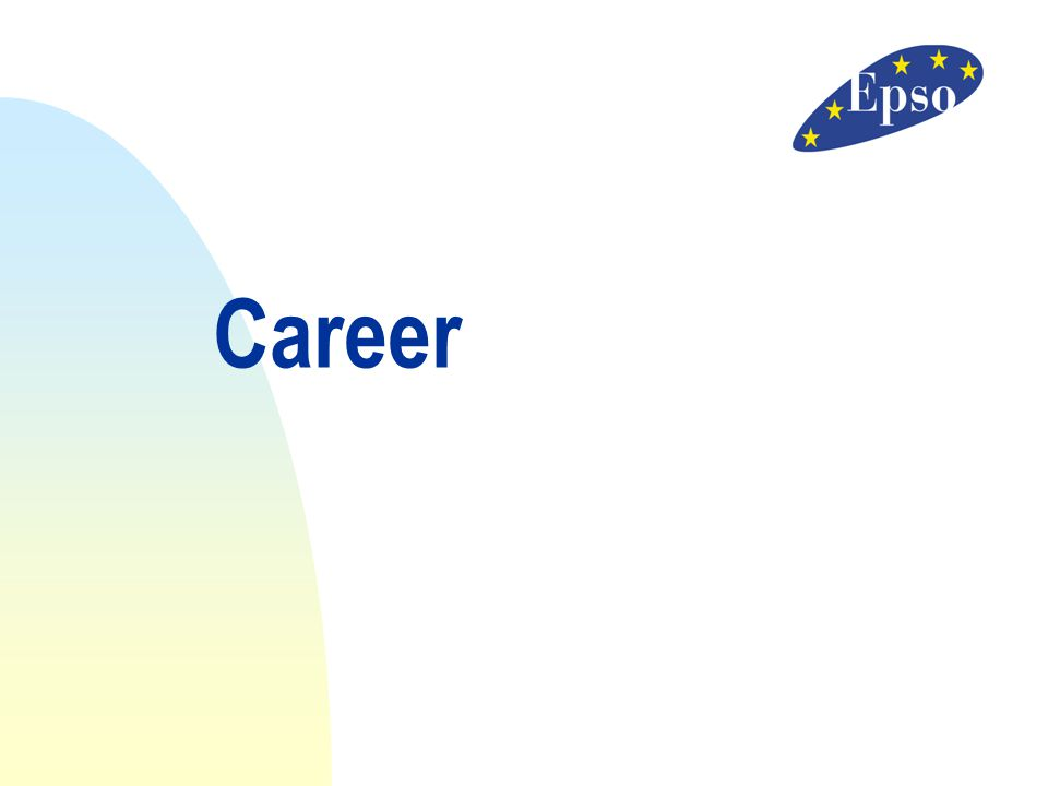 Career 11/04/2017 Career The career system