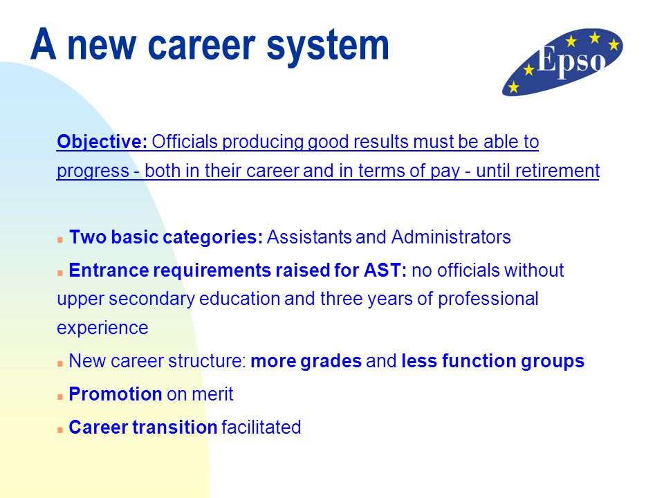 A new career system