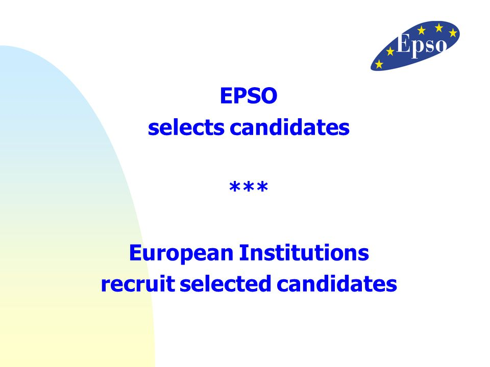 European Institutions recruit selected candidates