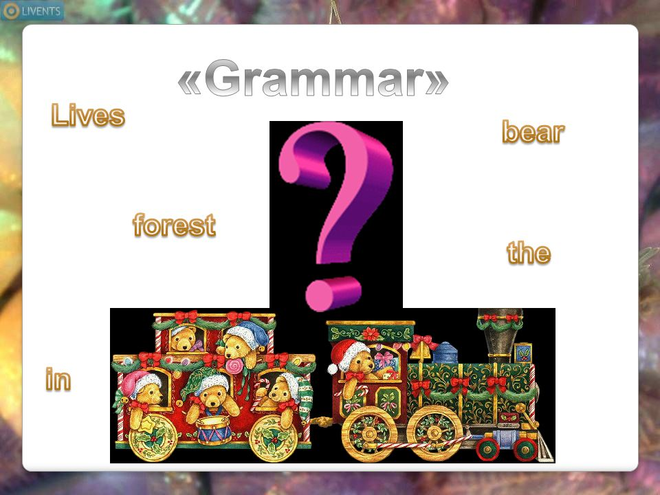 «Grammar» Lives bear forest the in