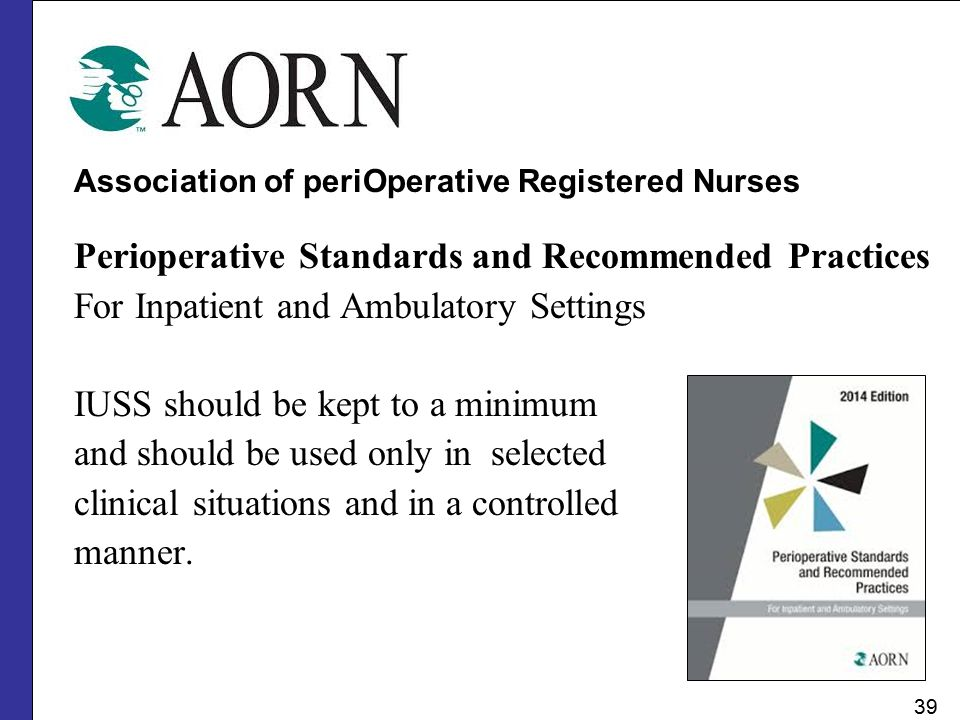 Perioperative Standards and Recommended Practices