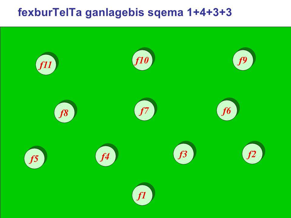 fexburTelTa ganlagebis sqema 1+4+3+3