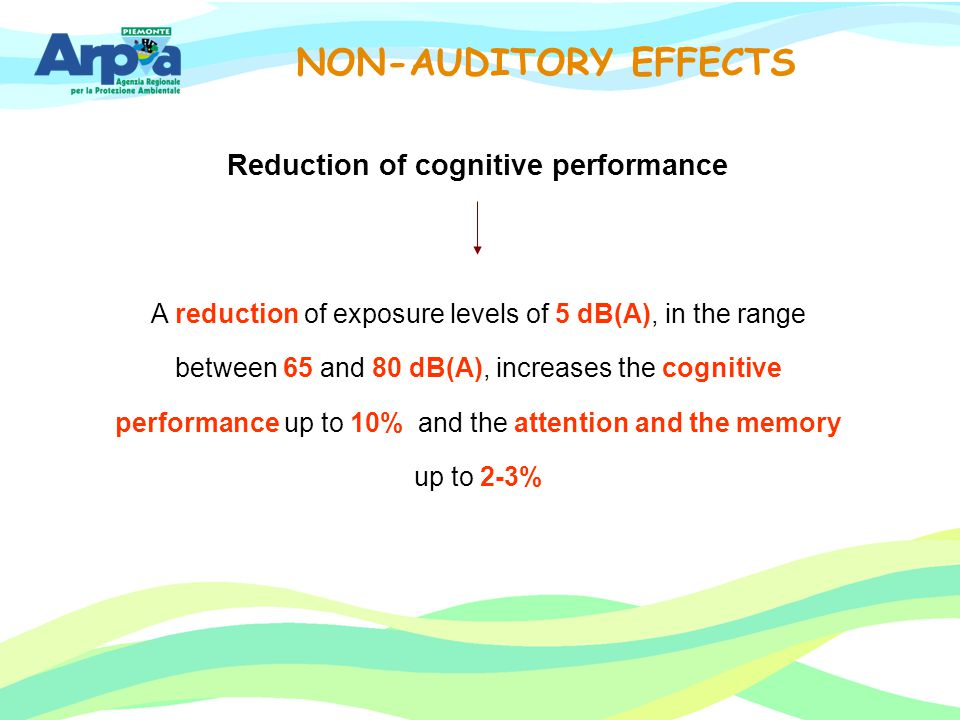Reduction of cognitive performance