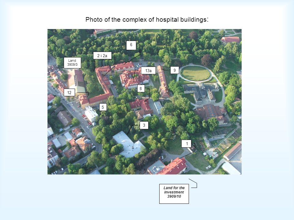 Photo of the complex of hospital buildings: