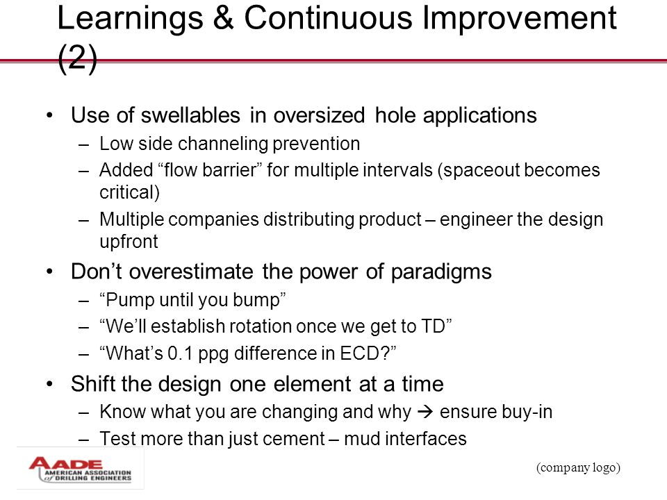 Learnings & Continuous Improvement (2)