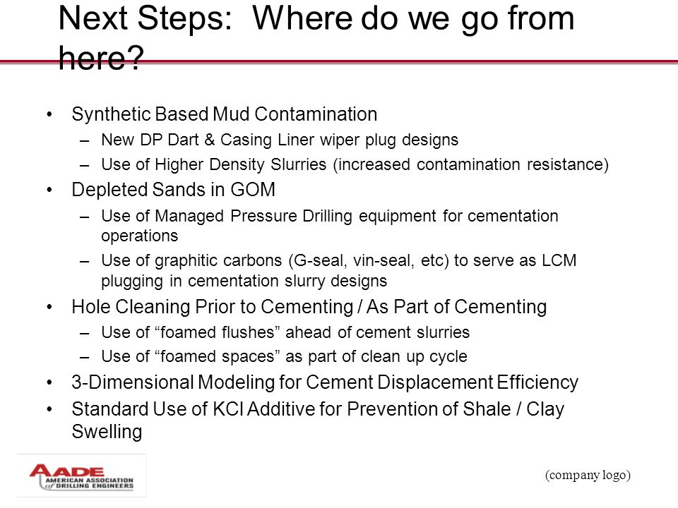 Next Steps: Where do we go from here