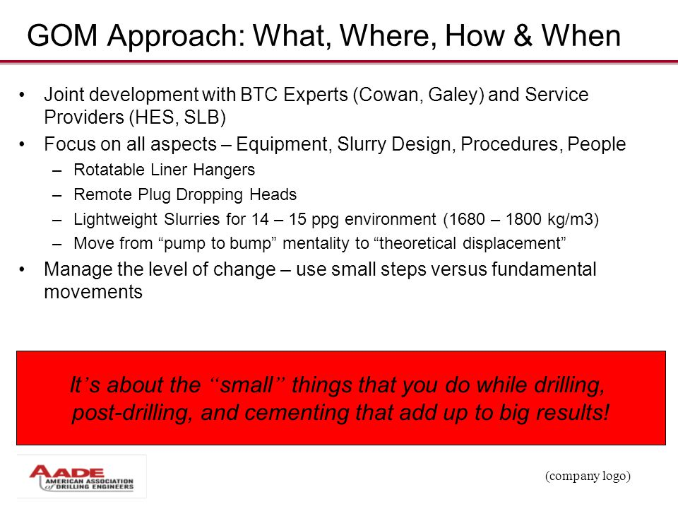 GOM Approach: What, Where, How & When