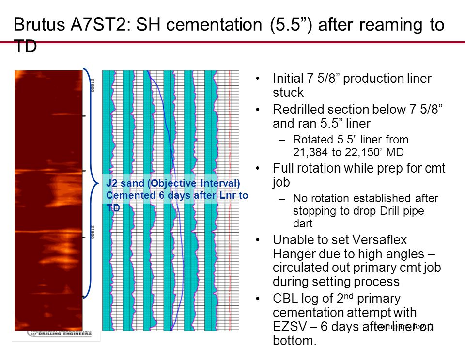 Brutus A7ST2: SH cementation (5.5 ) after reaming to TD