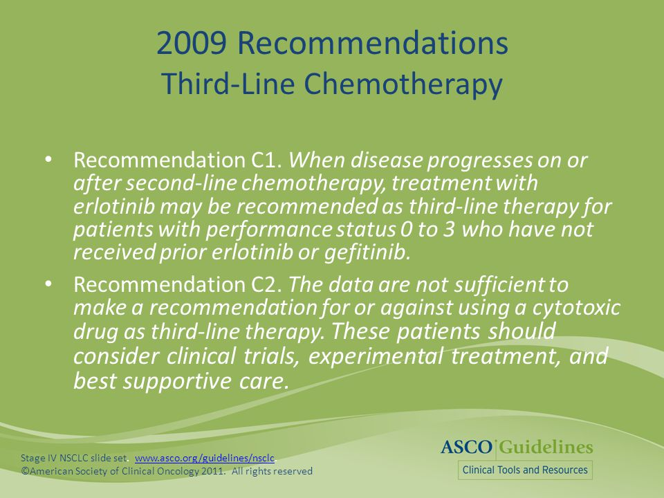 2009 Recommendations Third-Line Chemotherapy