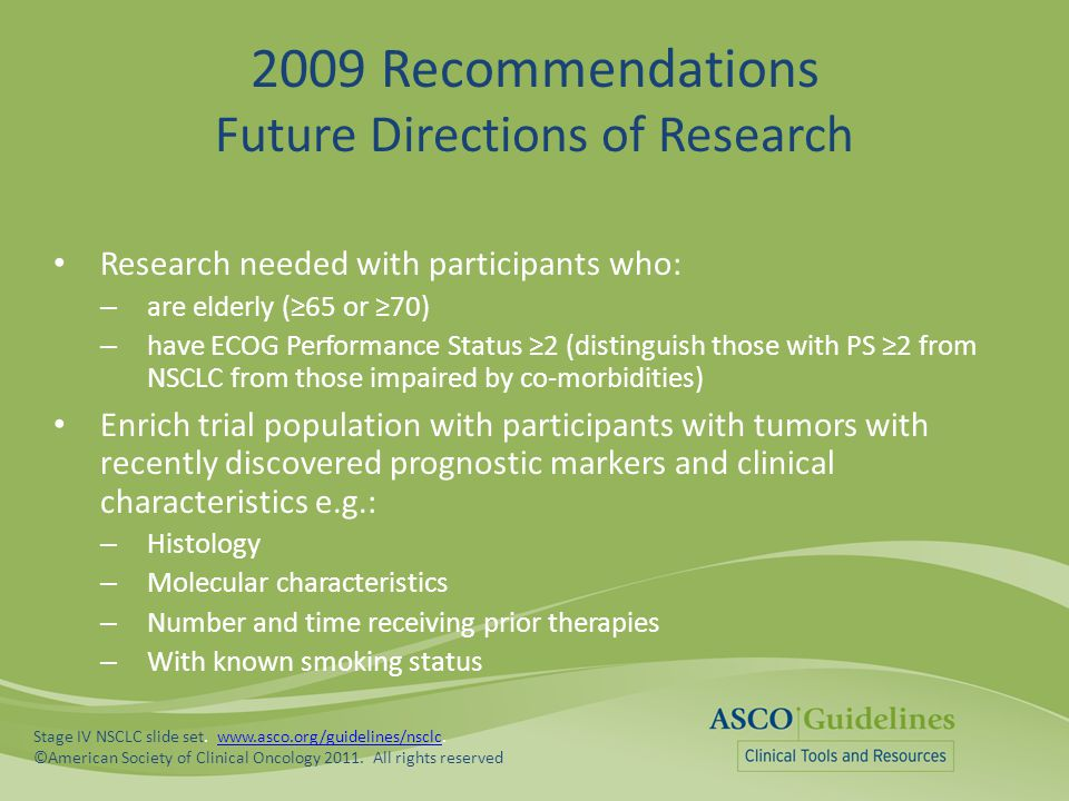 2009 Recommendations Future Directions of Research