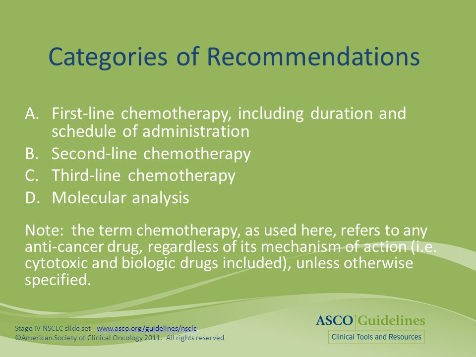 Categories of Recommendations