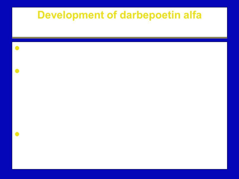 Development of darbepoetin alfa