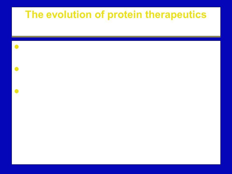 The evolution of protein therapeutics