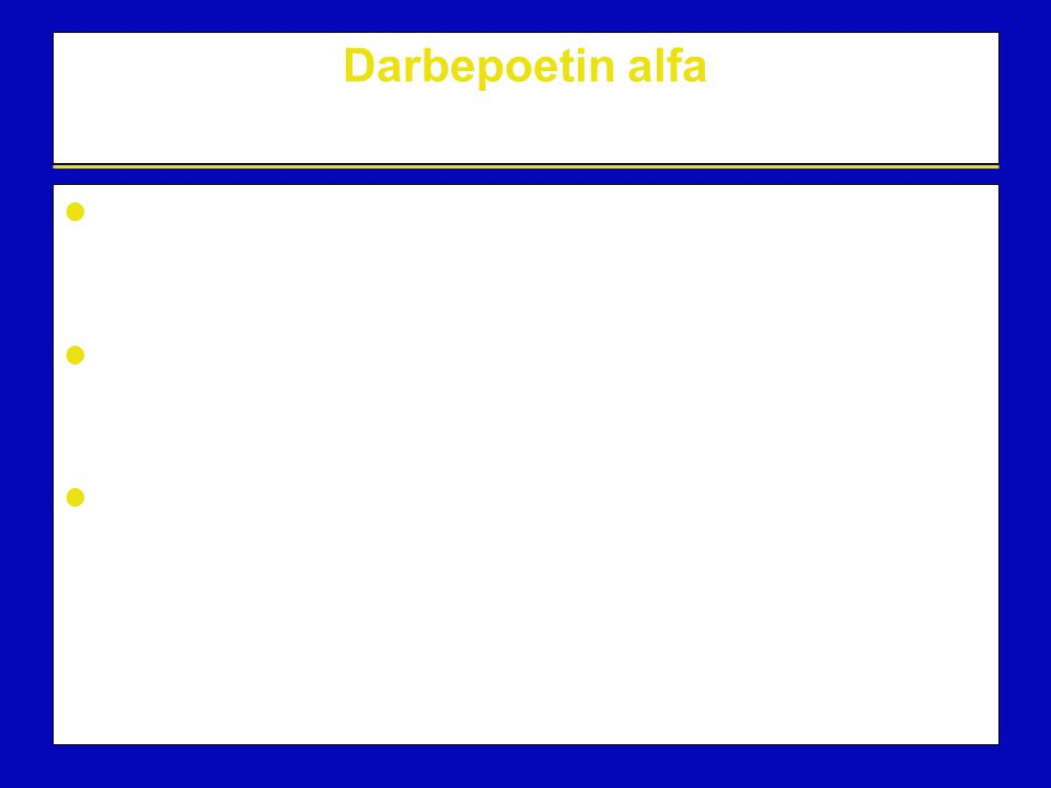Darbepoetin alfa Darbepoetin alfa is a biochemically distinct recombinant erythropoietic protein that stimulates the production of red blood cells.
