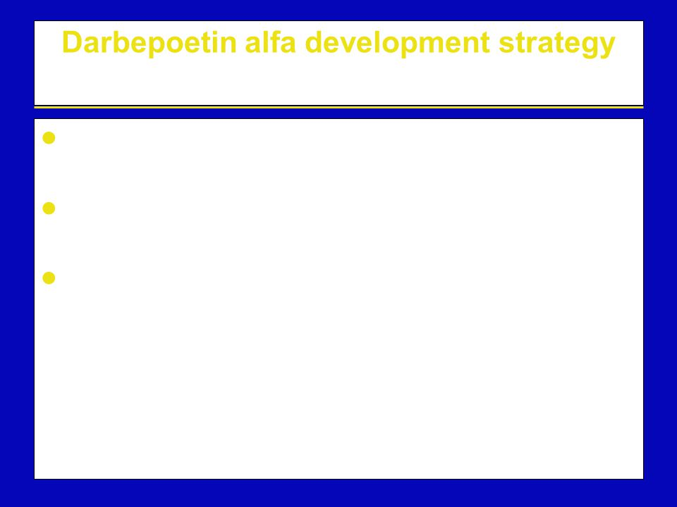 Darbepoetin alfa development strategy