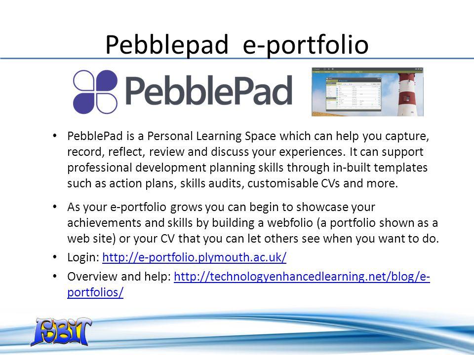 Pebblepad e-portfolio