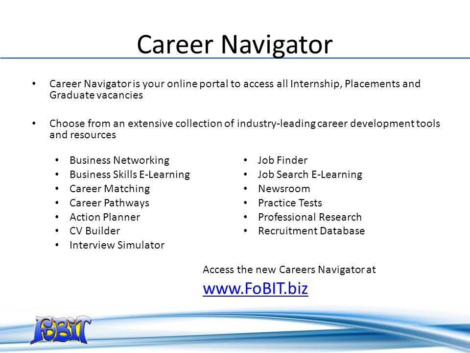 Career Navigator www.FoBIT.biz