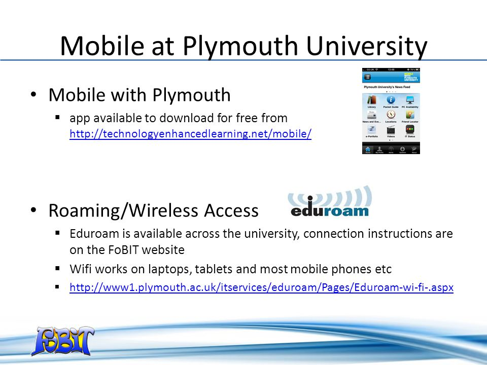 Mobile at Plymouth University