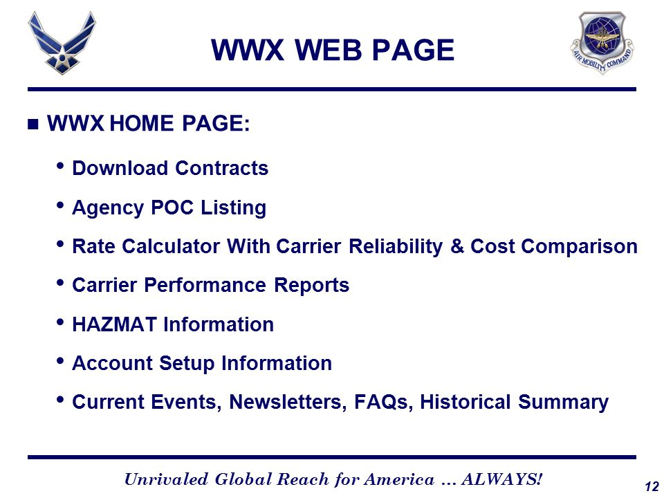 WWX HOME PAGE