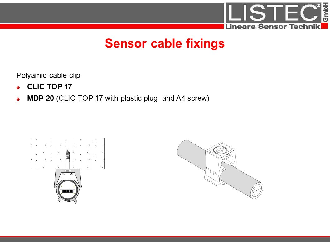 Sensor cable fixings Polyamid cable clip CLIC TOP 17