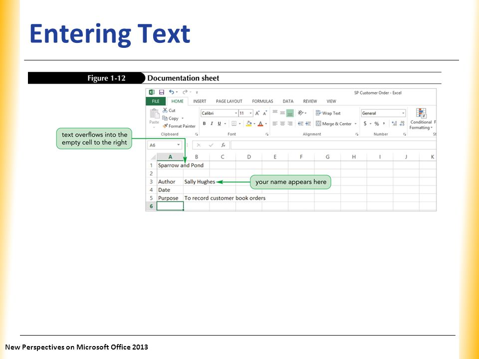 Entering Text New Perspectives on Microsoft Office 2013