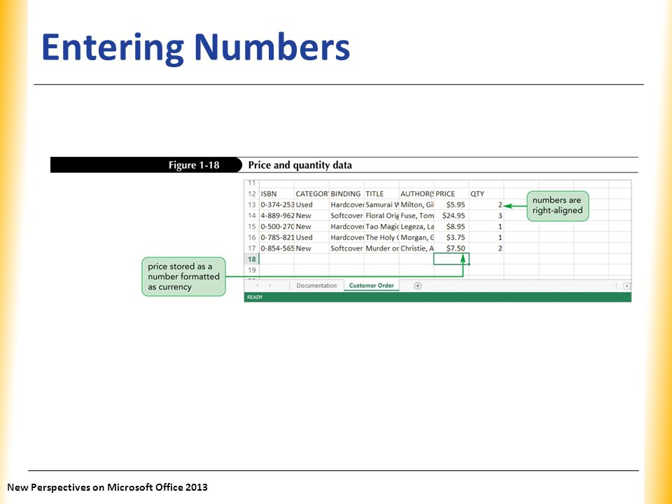 Entering Numbers New Perspectives on Microsoft Office 2013