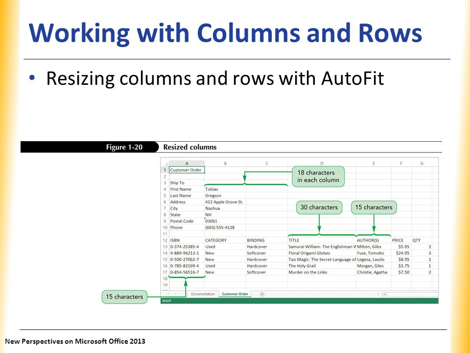 Working with Columns and Rows