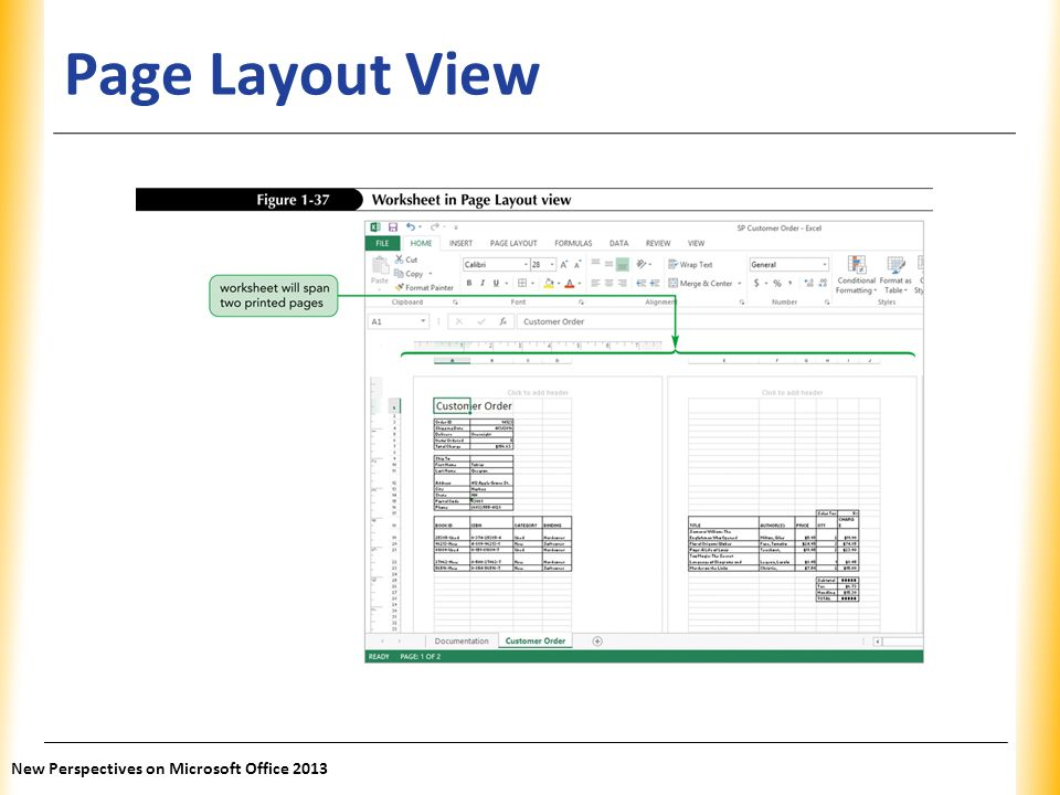 Page Layout View New Perspectives on Microsoft Office 2013