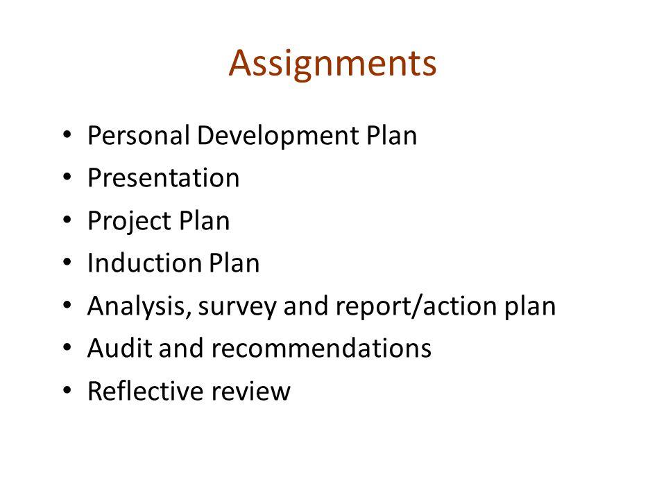 Assignments Personal Development Plan Presentation Project Plan