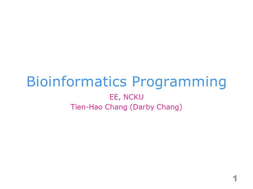 Bioinformatics Programming