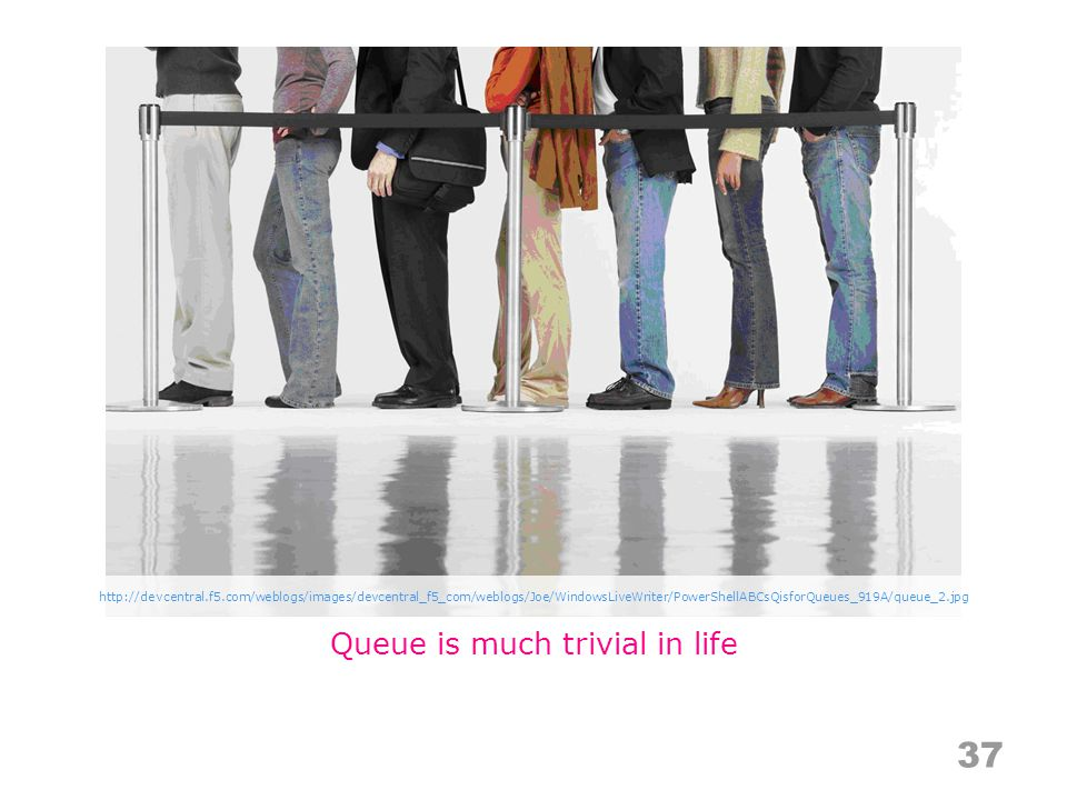 Queue is much trivial in life