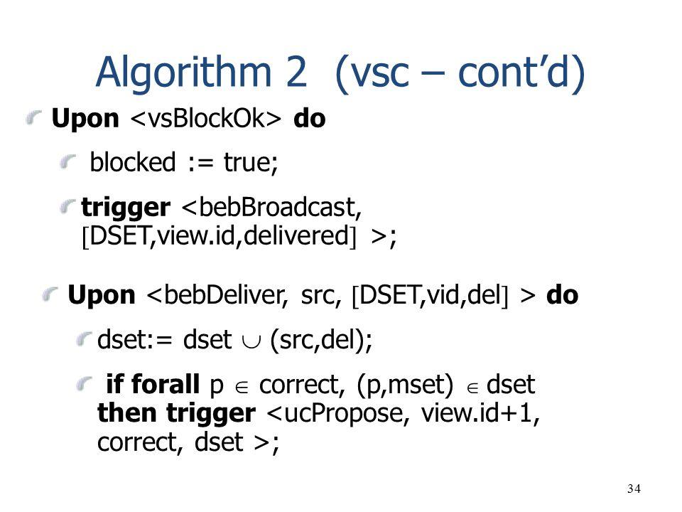 Algorithm 2 (vsc – cont'd)