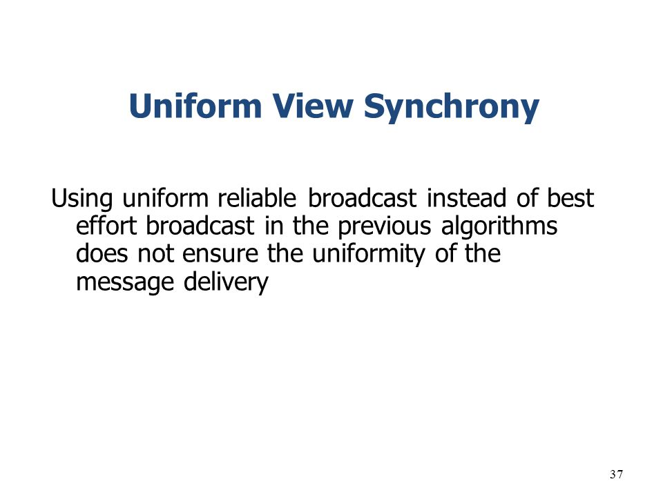 Uniform View Synchrony