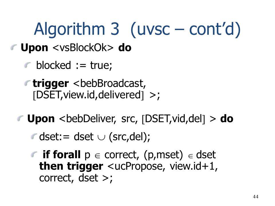 Algorithm 3 (uvsc – cont'd)