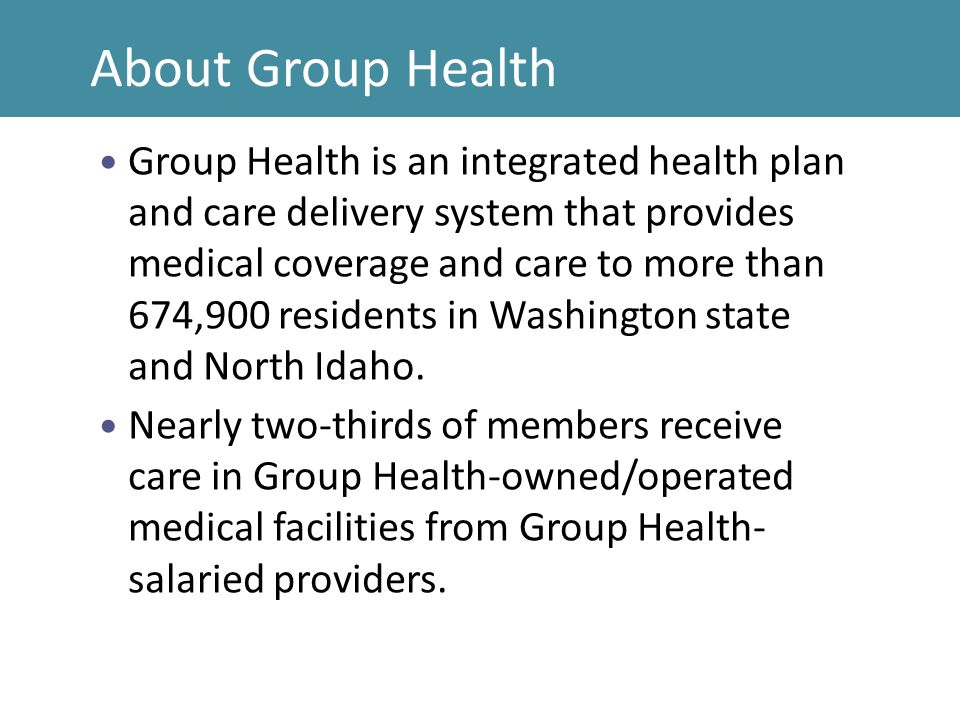 About Group Health