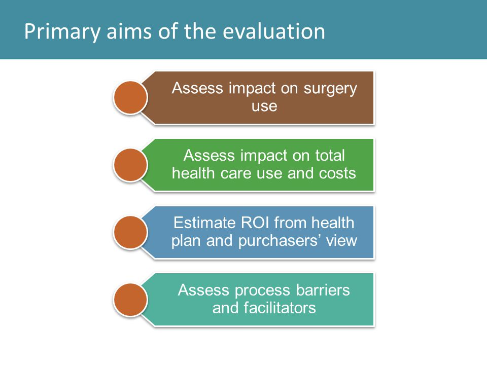 Primary aims of the evaluation