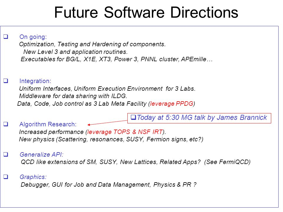 Future Software Directions