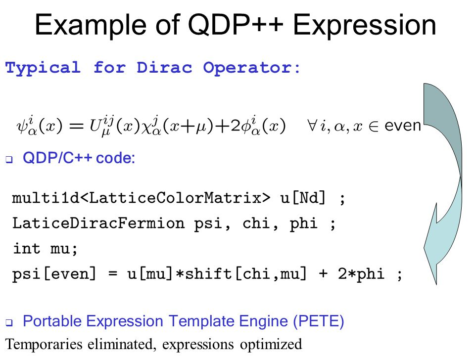 Example of QDP++ Expression