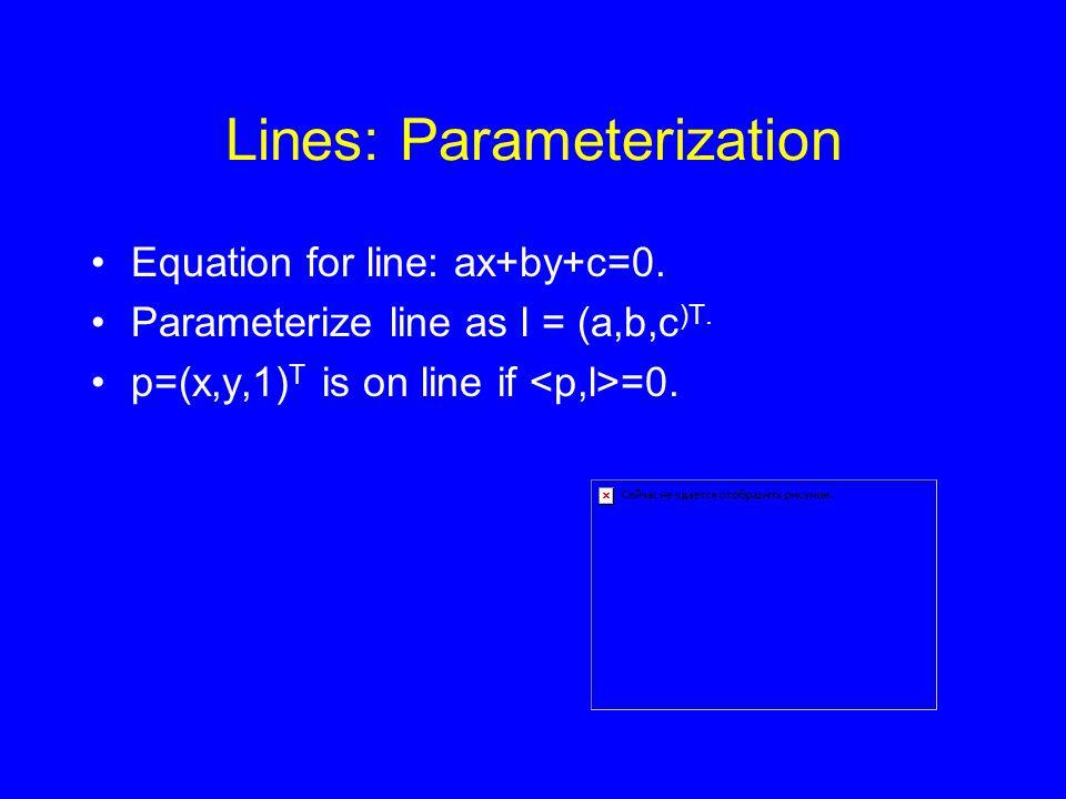 Lines: Parameterization