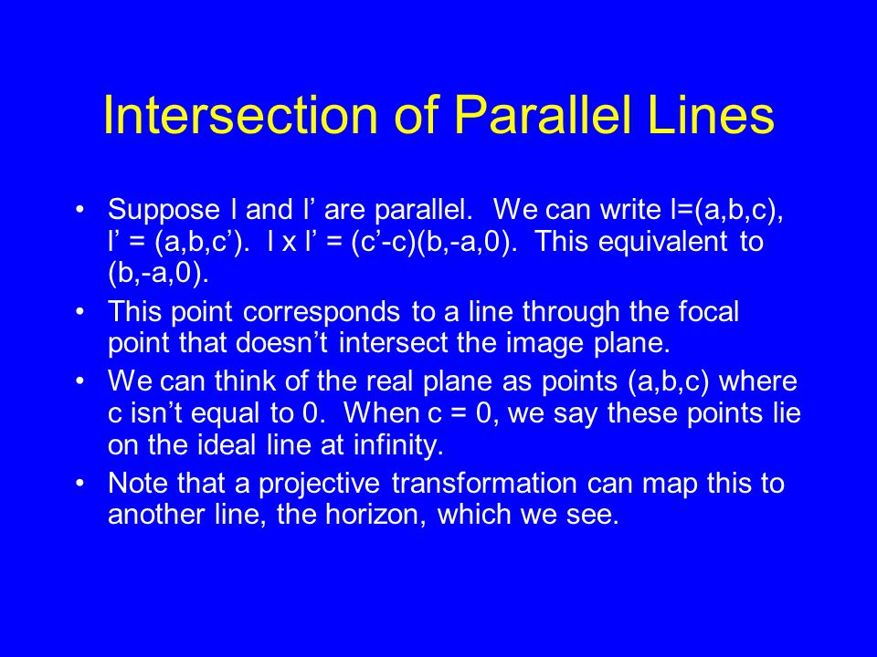 Intersection of Parallel Lines