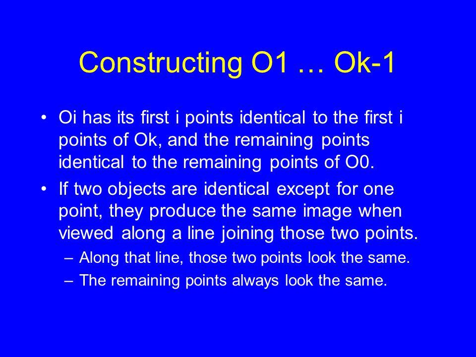 Constructing O1 … Ok-1