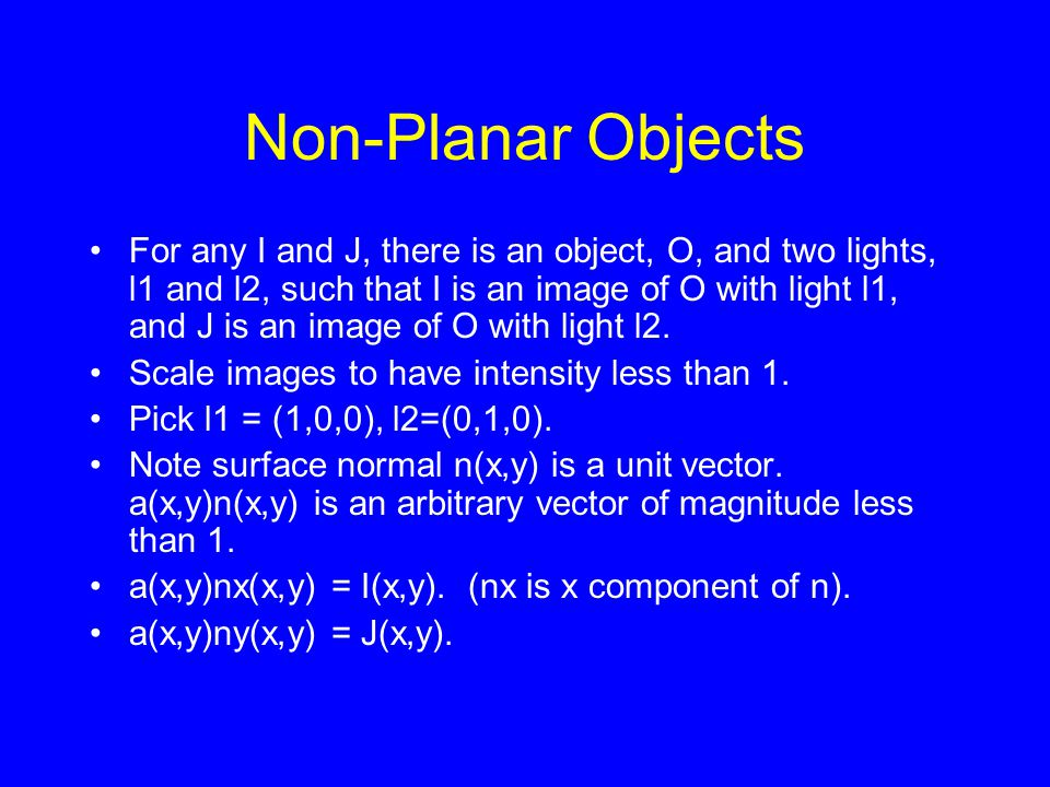 Non-Planar Objects