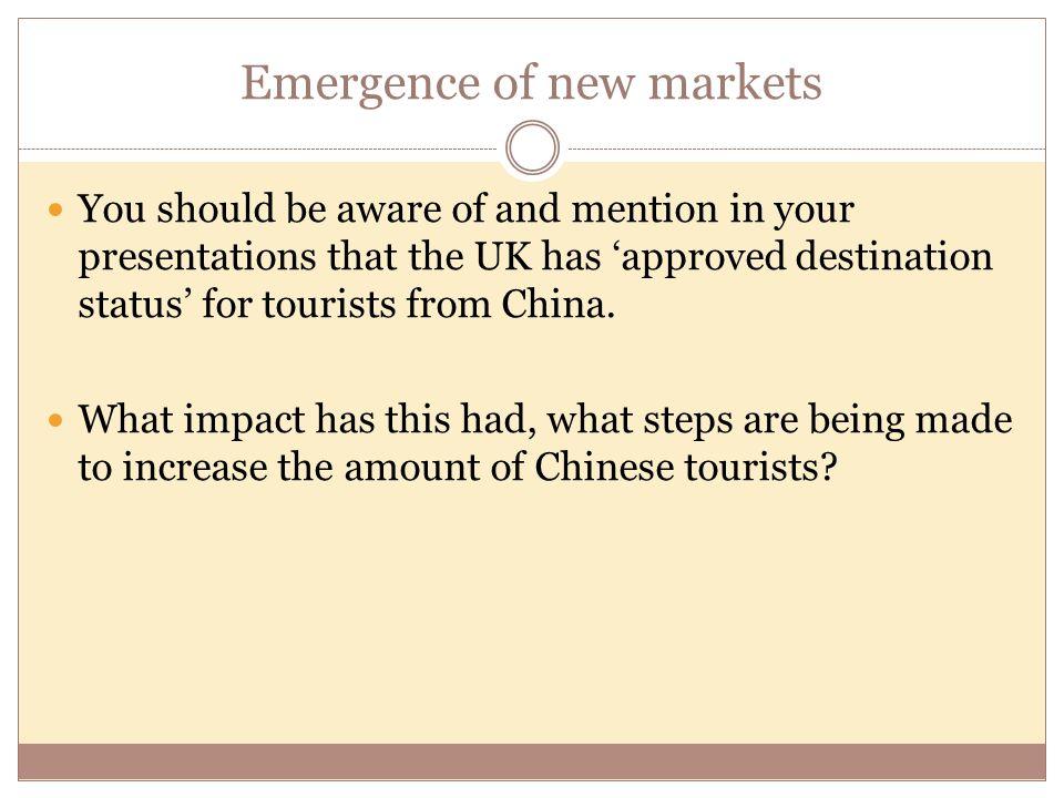 Emergence of new markets