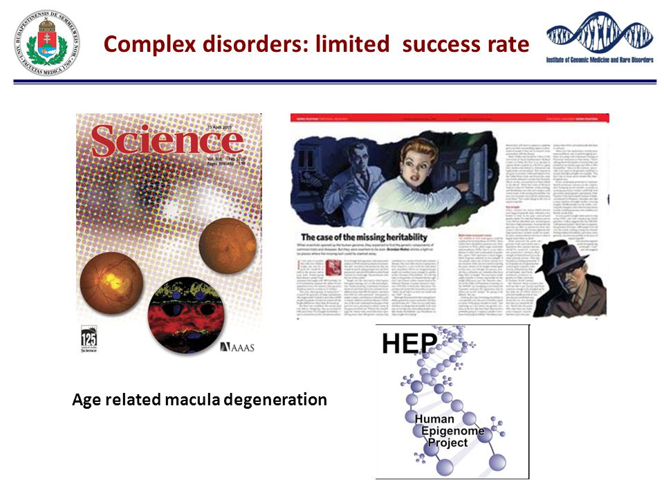 Complex disorders: limited success rate