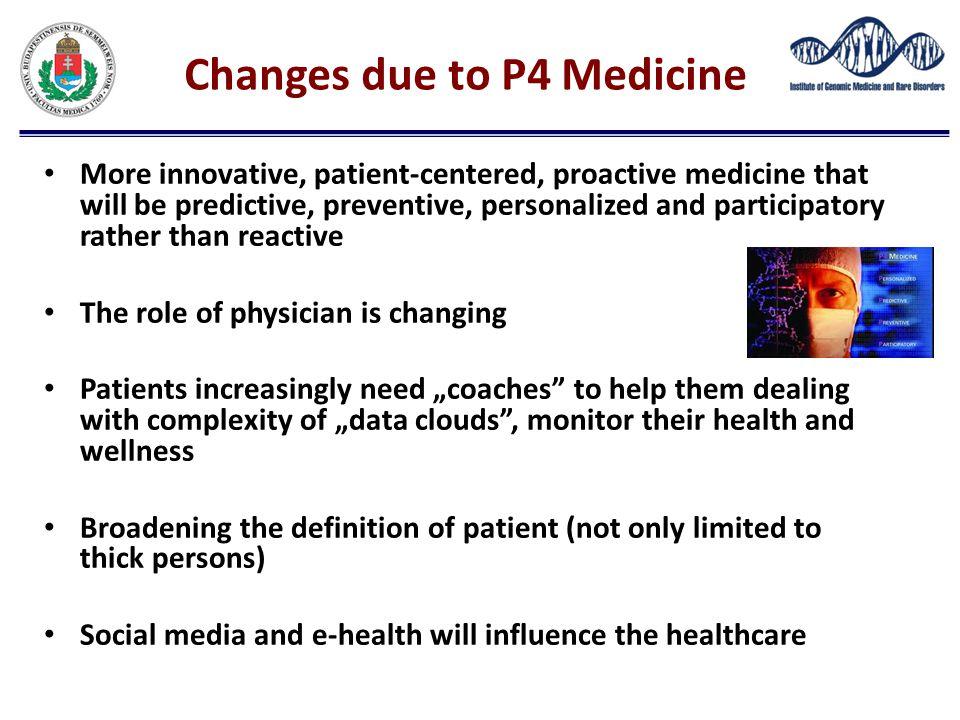 Changes due to P4 Medicine
