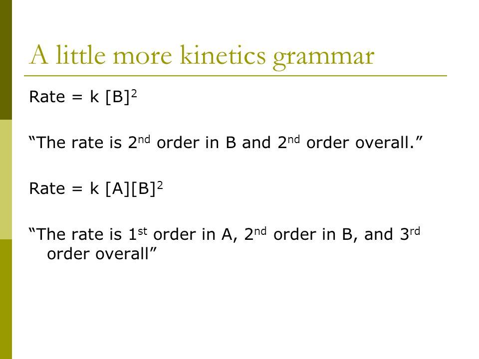 A little more kinetics grammar