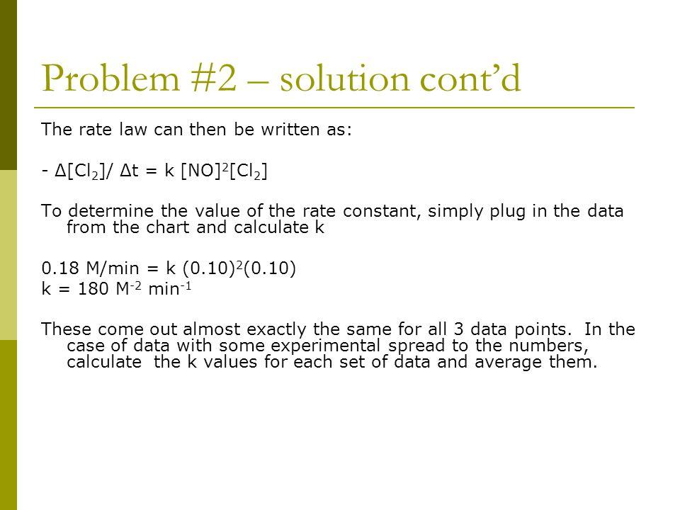 Problem #2 – solution cont'd