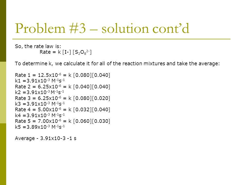 Problem #3 – solution cont'd